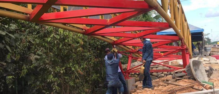 Estructura puentes peatonales en Puerto Gaitán (Meta)